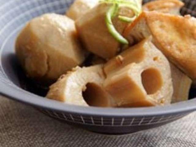 里芋 と 厚 揚げ の 煮物