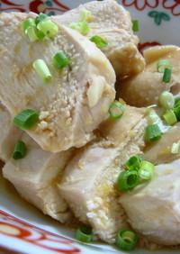 レンジで簡単☆鶏胸肉のしょうが醤油煮
