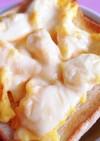 魚焼きグリルでスクランブルエッグトースト