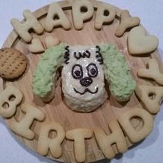1歳の誕生日キャラケーキ★卵、牛乳不使用