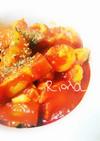 レンジで簡単⭐️ささみと茄子のトマト煮