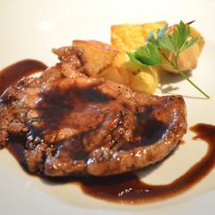 岩中豚ロース肉のソテー バルサミコソース