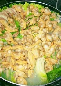濃厚あさりだしスタミナ豚白菜簡単鍋