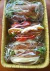 カレー味パンのサンドイッチ