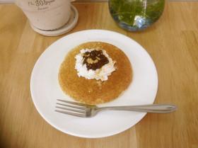一人分のふっくらヘルシーパンケーキ