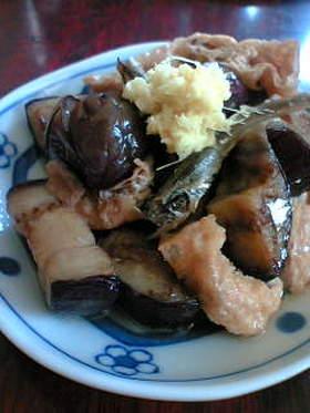 干し茄子と薄あげの含め煮