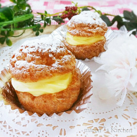 HMで簡単♡クッキーシュークリーム