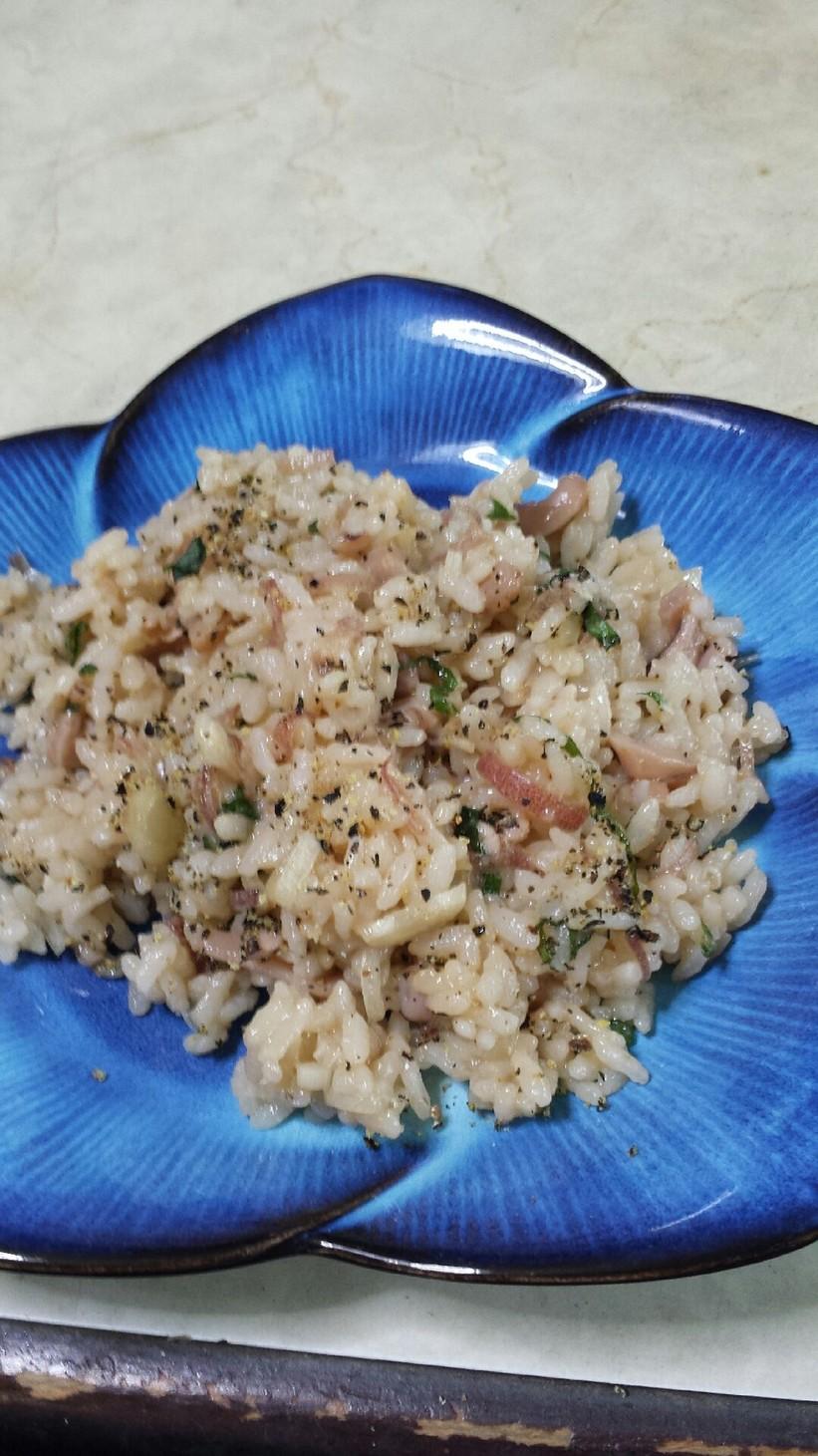 塩辛で簡単 美味しい混ぜご飯