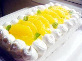 ●甘酸っぱくてふわっとしっとり美しい!!★オレンジムースケーキ★