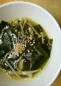 簡単 ワカメ 椎茸 えのきの 中華スープ