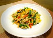 カレー風味の野菜炒めの写真