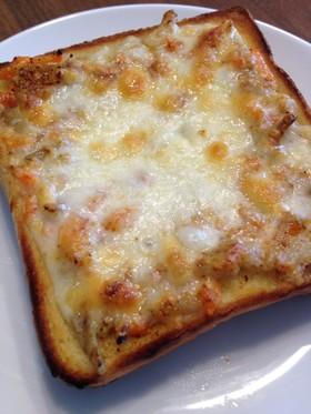 リメイク♪ ごぼうサラダチーズトースト