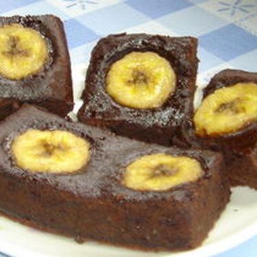 ココアとサラダ油で簡単♪バナナブラウニー