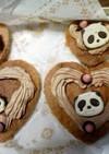サクサクパンダのチョコケーキ