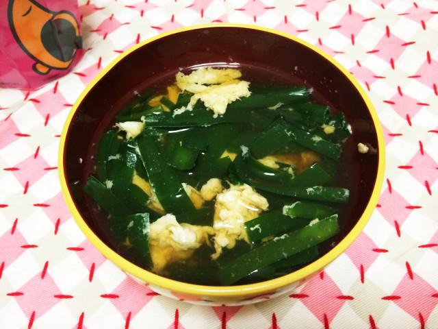 ニラスープ人気検索1位*にらと卵のスープ