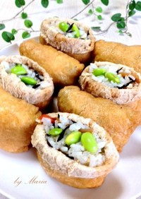 ひじきと枝豆の超絶品♡いなり寿司