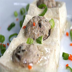 豆腐の肉詰め