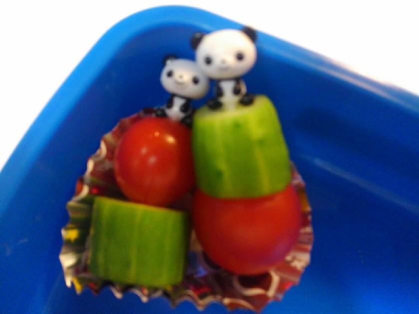 お弁当☆運動会に♥ミニトマト&きゅうり