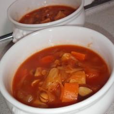 炊飯器で大豆のトマトスープ