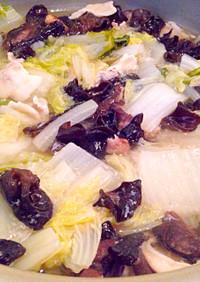 白菜とたっぷりキノコの塩鍋