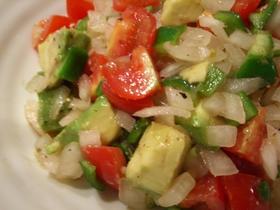 プチトマトとアボガドのサルサ風サラダ