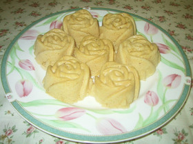 シリコン型とレンジで☆ふんわりケーキ。