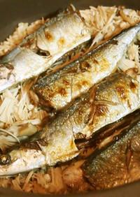 ♡干しキノコと秋刀魚の炊き込みご飯♡