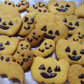 ハロウィン・かぼちゃのソフトクッキー
