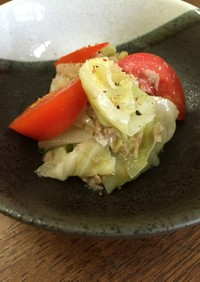 にんにく塩糀で作るキャベツのツナ煮