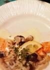 鮭のムニエルホワイトソースがけ