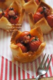 ヘルシーなトマトソース&豆腐プディングの写真