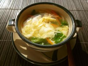 ルッコラの卵スープ❀朝食やランチに