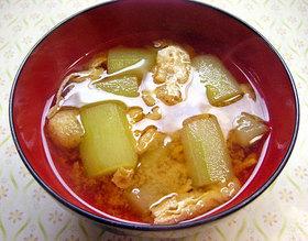 キュウリのお味噌汁