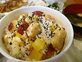 秋の食卓♪栗とさつま芋の炊き込みご飯