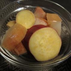 さつまいもとりんごの煮物