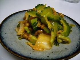 ねばねばゴーヤキムチ納豆