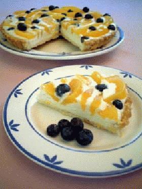 チーズタルト ~桃とブルーベリー~