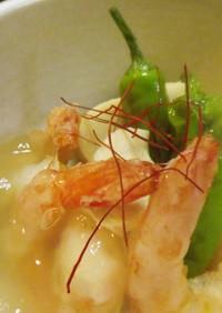 海老のあん掛けと高野豆腐含め煮