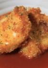 鶏肉とパン粉焼き トマトソース