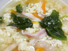 ふわふわっと(*^_^*)卵のスープ♪