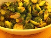 オーブンでカリッとロースト芽キャベツ!の写真
