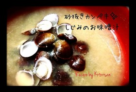 ✽砂抜きカンペキ✨しじみの出汁効き味噌汁
