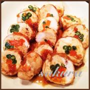鶏胸肉の野菜巻き♡の写真