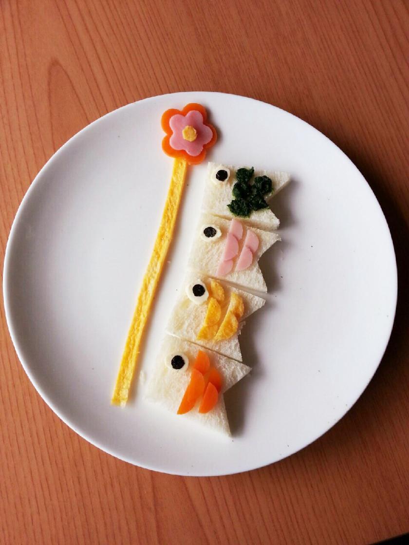 離乳食後期☆端午の節句☆食パンで鯉のぼり