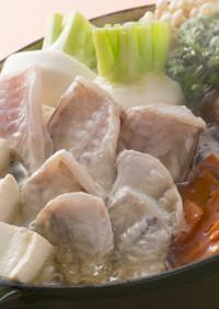 ふく囲鍋レシピ「カワハギ鍋」