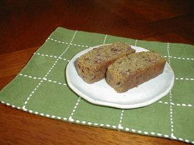 小豆とウコギのパウンドケーキ・・・お茶で