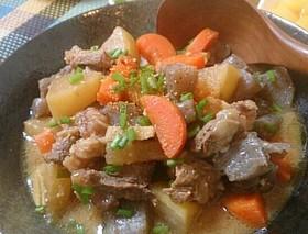 牛すじ肉の煮込み☆炊飯器で簡単調理♪