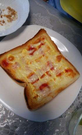 ピザ風オリーブトースト