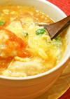 簡単!トマトと卵の鶏だんごスープ!