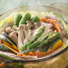 ふく囲鍋「夏野菜のもりもりスチーム鍋」